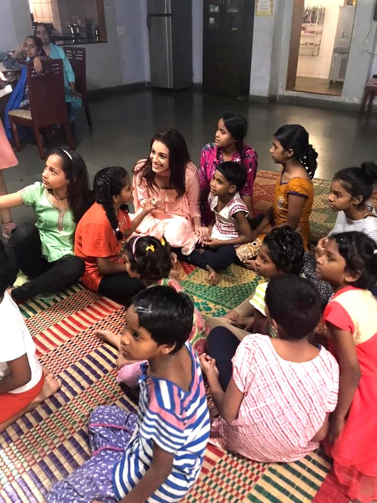 On the occasion of International Girl Child Day on Friday, actress Sahher Bambba  took out time to spend a day with orphan girls in Mumbai. - Sahher Bambba
