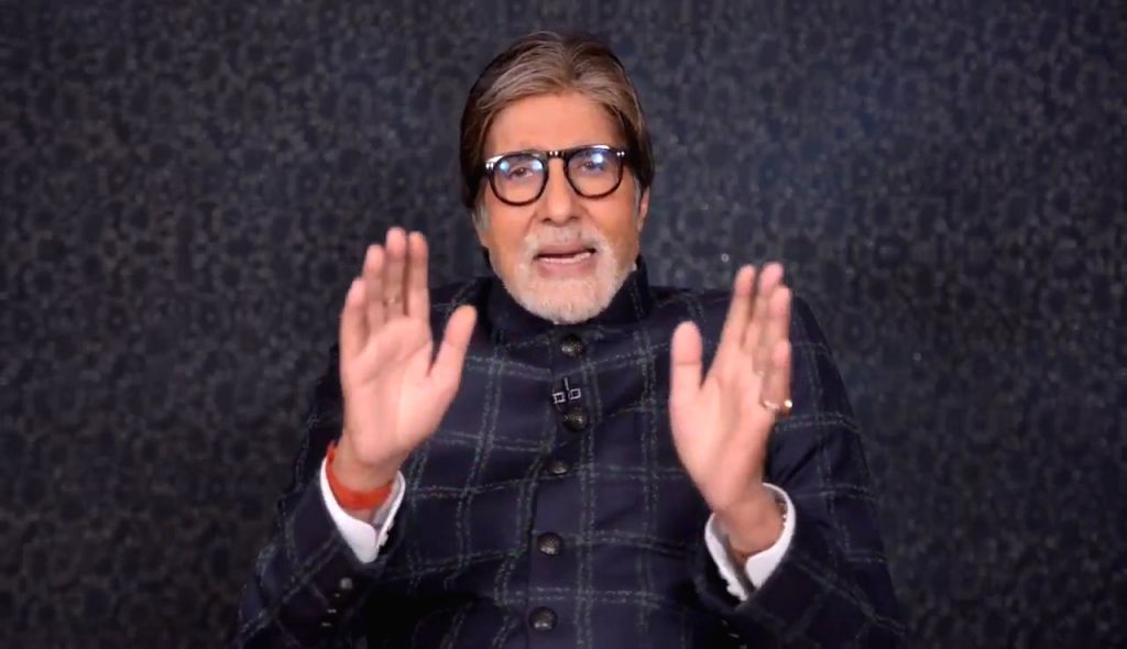 """On the occasion of the legendary singer Lata Mangeshkar's 90th birthday, veteran actor Amitabh Bachchan shared a special video message for her on social media, paying tribute to her contribution to Indian film music. """"On Lataji's 90th birthday, my se - Amitabh Bachchan"""