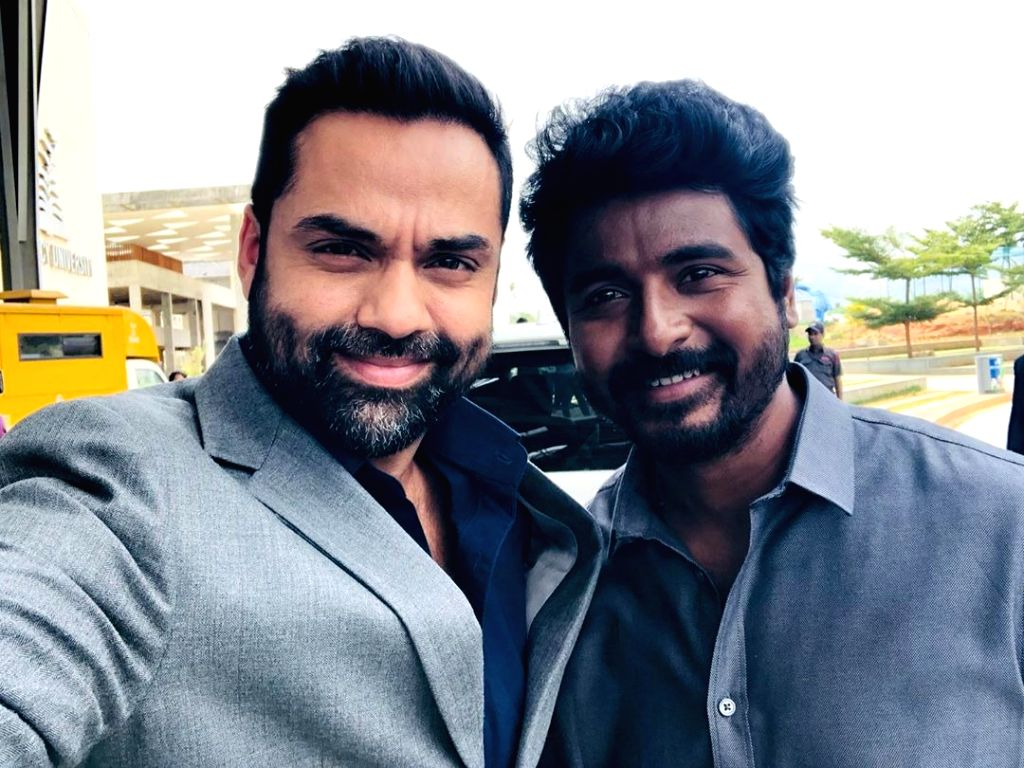 """On working with Sivakarthikeyan , Abhay took to Instagram and wrote: """"Every Villain needs a Hero! Such a privilege to be working with the talented Sivakarthikeyan... I'm having a lot of fun making this, even though Tamil is one tough langu"""