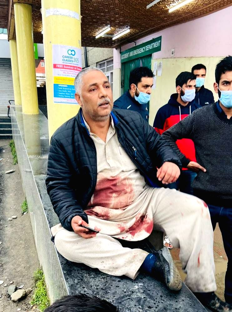 One Municipal Councillor and a Special Police Officer (SPO) of J&K policeman were killed in a terrorist attack at Sopore in North Kashmir's Baramulla district on Monday  .