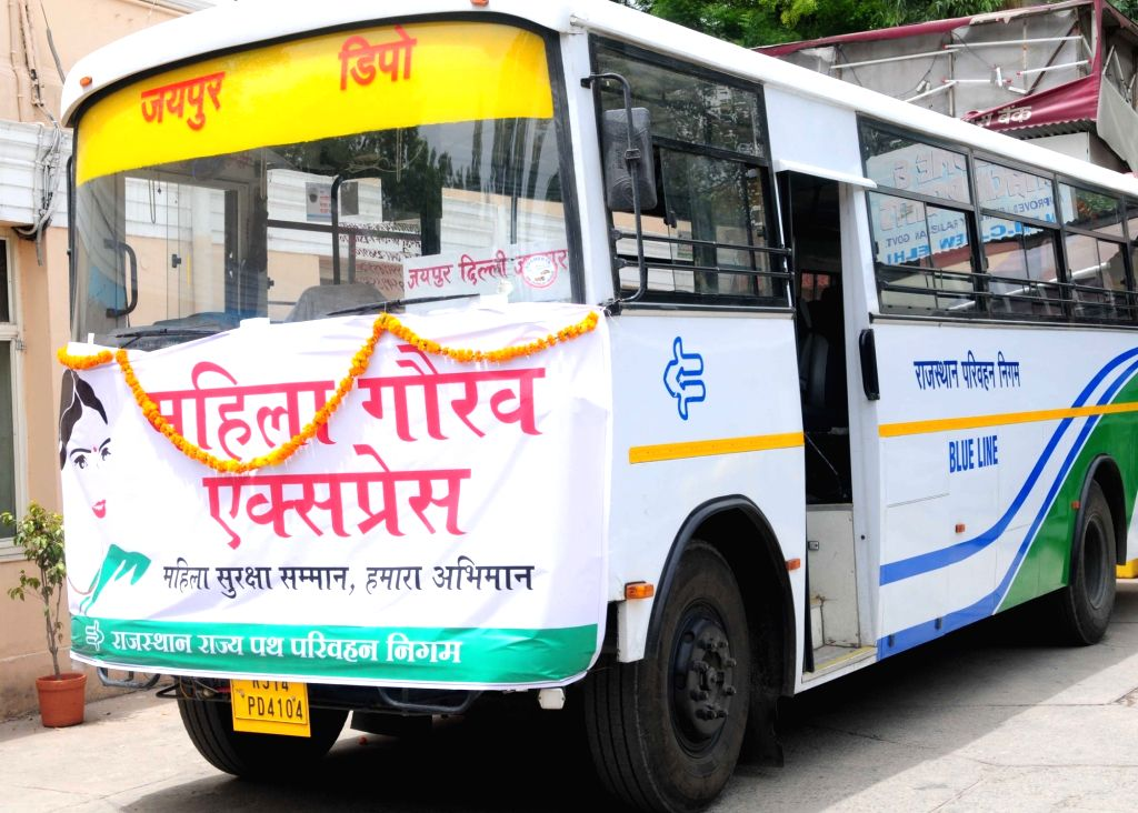 One of the Buses with safety measures for women under Nirbhaya Scheme that was dedicated to the public by Union Minister for Road Transport & Highways and Shipping Nitin Gadkari, in ...