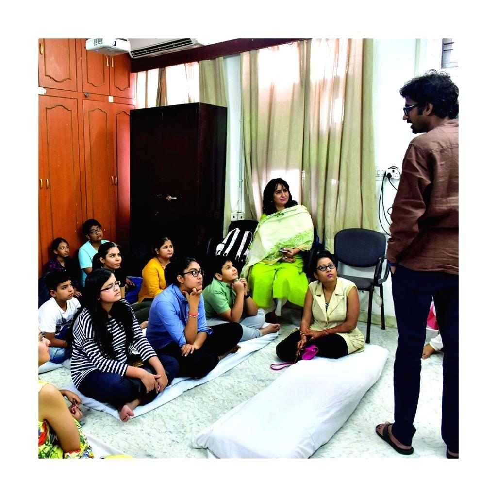 One of the co-founders of the start-up Indibni, Nitin Jain addressing a workshop. - Nitin Jain
