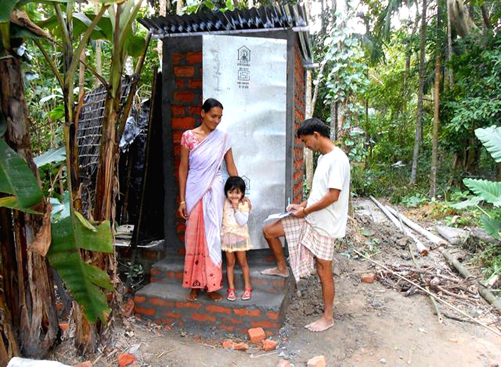 One of the toilets built in Barsimaluguri.