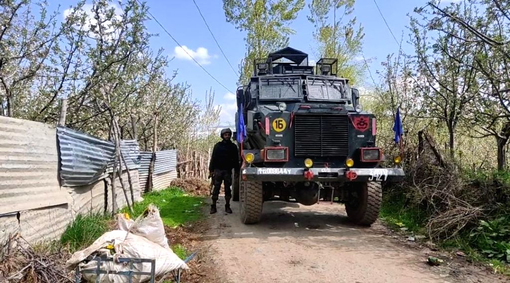 One terrorist has been killed in an ongoing encounter between terrorists and security forces in the Zeipora area of South Kashmir's Shopian district on Monday, 19th 2021.