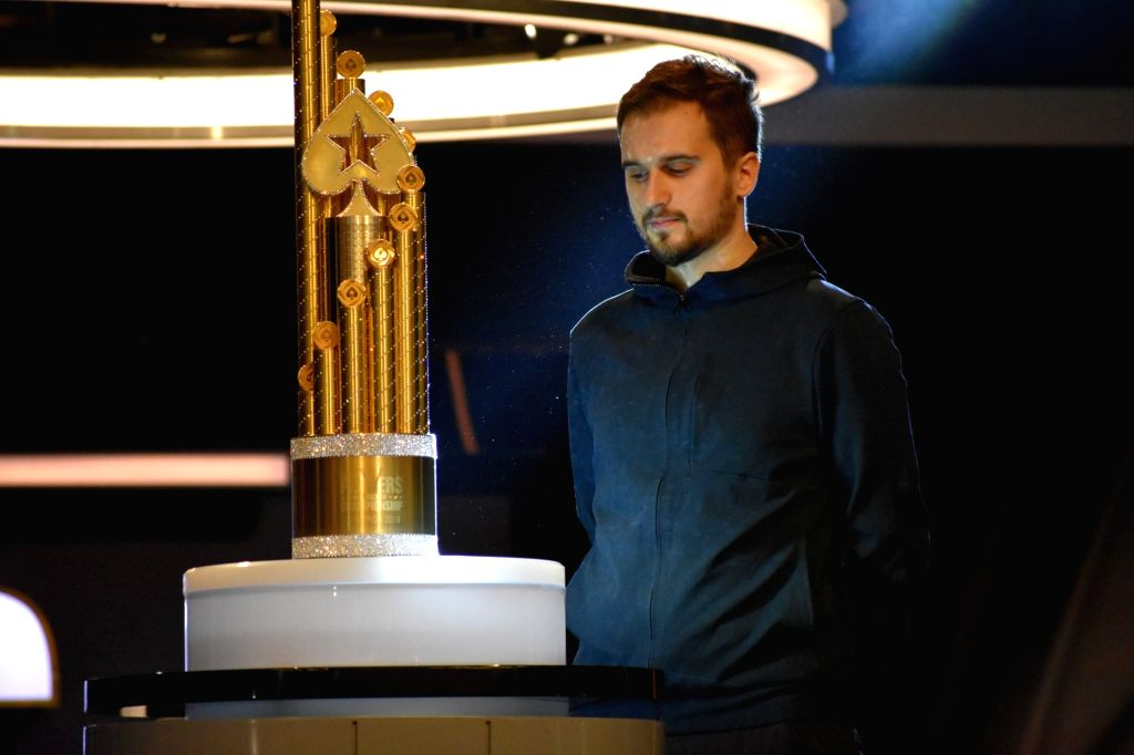 One that got away -- Runner up Julien Martini of France earlier contemplating the winner's trophy.