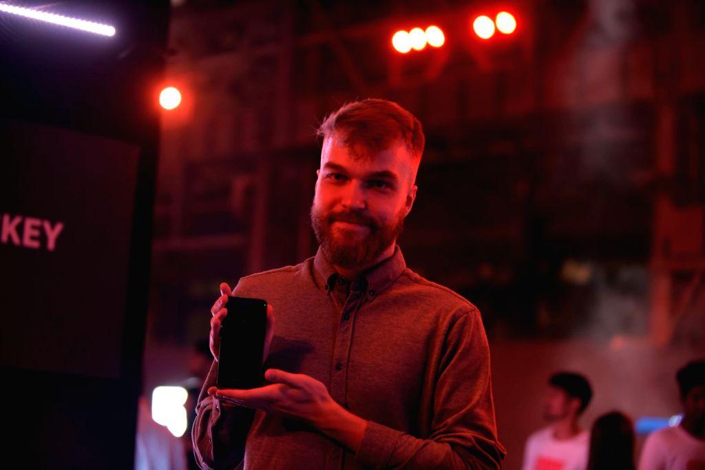 OnePlus Product Manager Szymon Kopec launches OnePlus 6T smartphone, in Mumbai, on Dec 12, 2018.