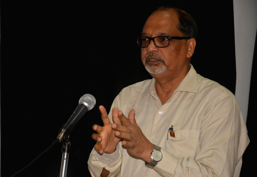 ONGC's Executive Director Gautam Kumar Singha Roy during an interaction with journalists in Agartala on Oct 10, 2017. He said due to high pressure of gas and unusual formation beneath the ...