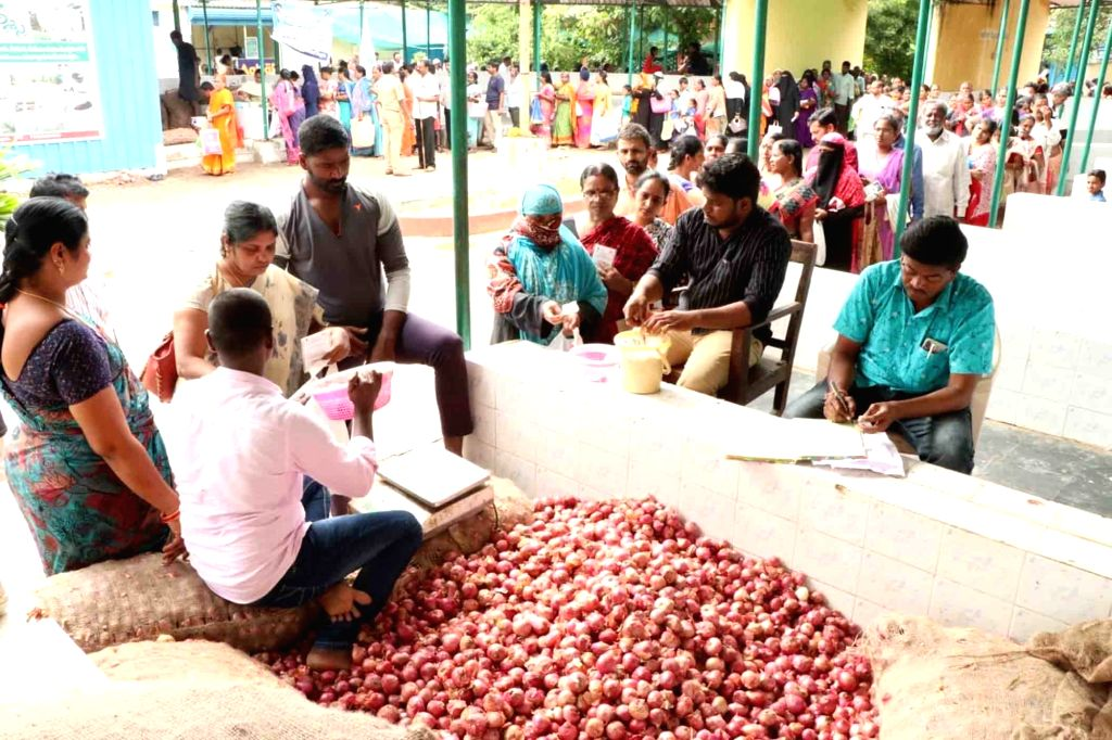 Onions, which are imported from Maharashtra???s Solapur and other areas have touched the Rs 200/Kg mark in Hyderabad. (File Photo: IANS)