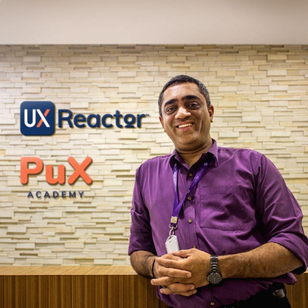 Online educator Prasad Kantamneni from UX Reactor.