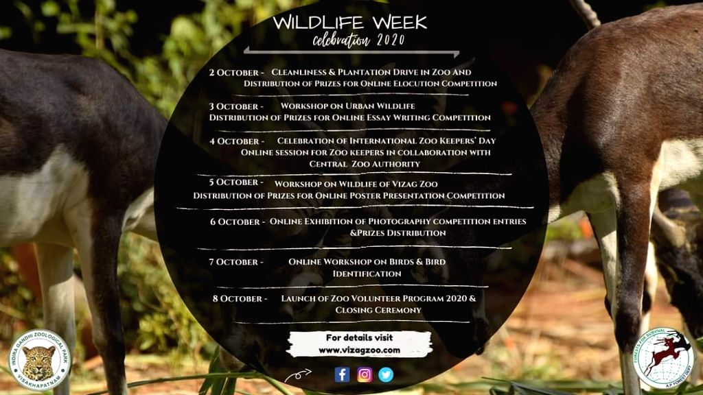 Online events mark Vizag Zoo's ongoing wildlife week celebrations