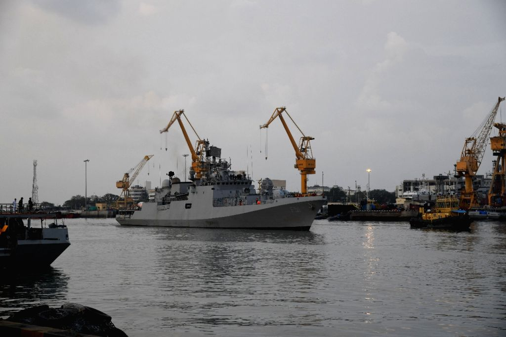Operation Samudra Setu II INS Jalashwa brings the largest consignment of Liquid Medical Oxygen (LMO) to India. 300 Metric Tonne of LMO & more than 3600 Oxygen cylinders from Singapore & ...