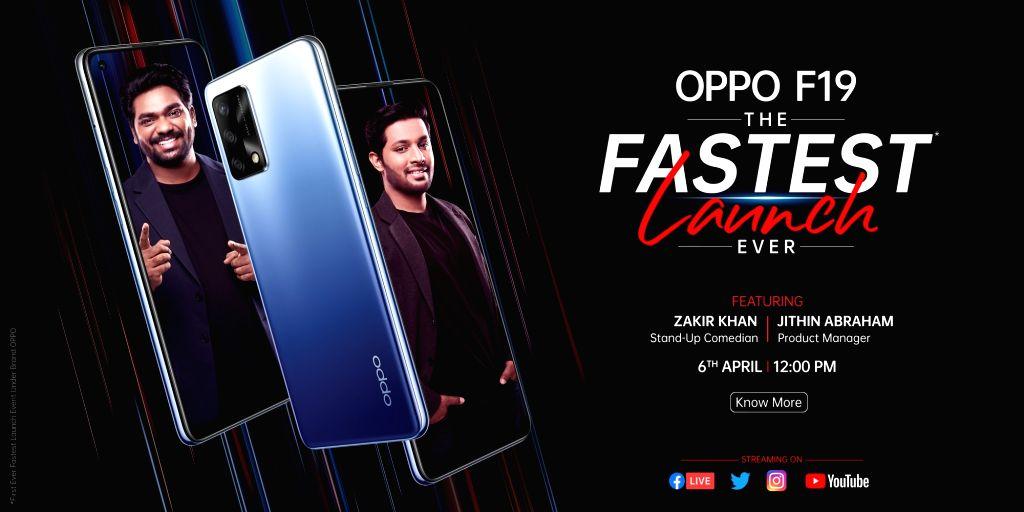 OPPO launches F19 in India at Rs 18,990.(Photo:IANS)