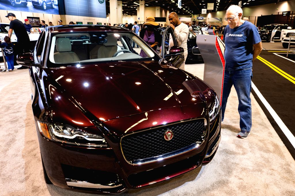 ORANGE COUNTY (U.S.), Oct. 4, 2019 People visit the OC Auto Show in Orange County, California, the United States, on Oct. 3, 2019. Over 600 vehicles are exhibited at the show from Oct. 3 ...