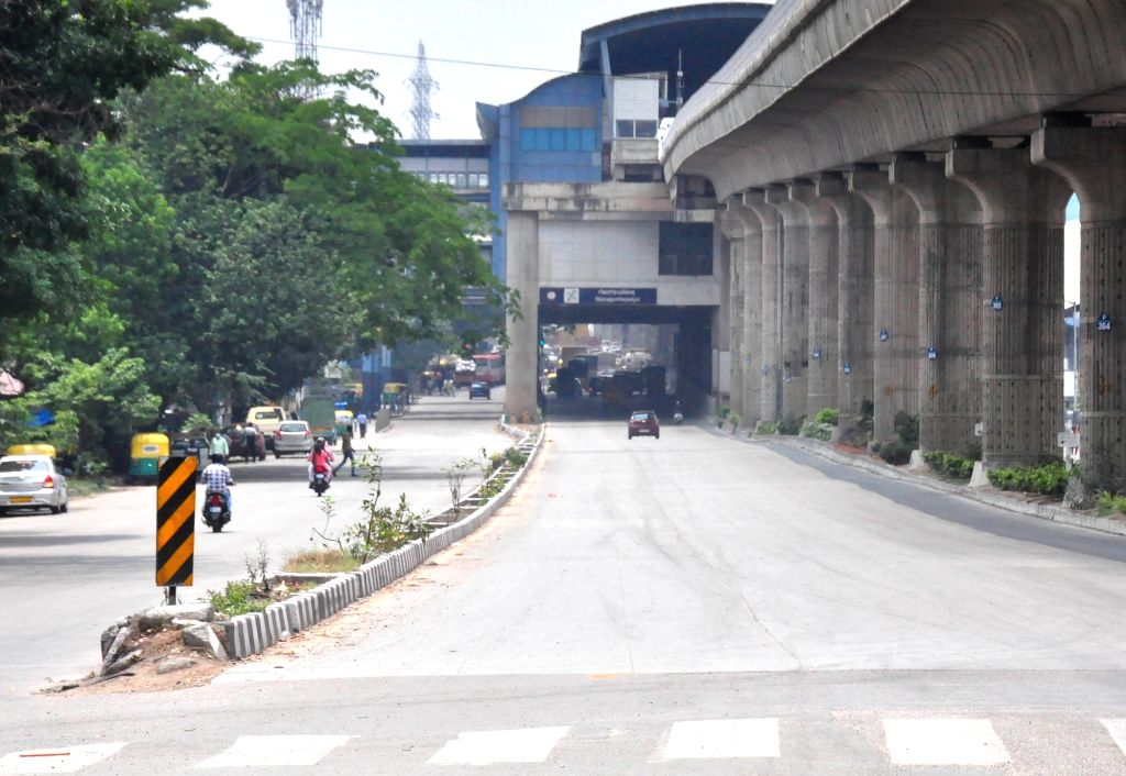 Orion mall being closed ahead of night curfew and Weekend curfew to curb the spread of coronavirus, in Bengaluru on Thursday April 22, 2021.