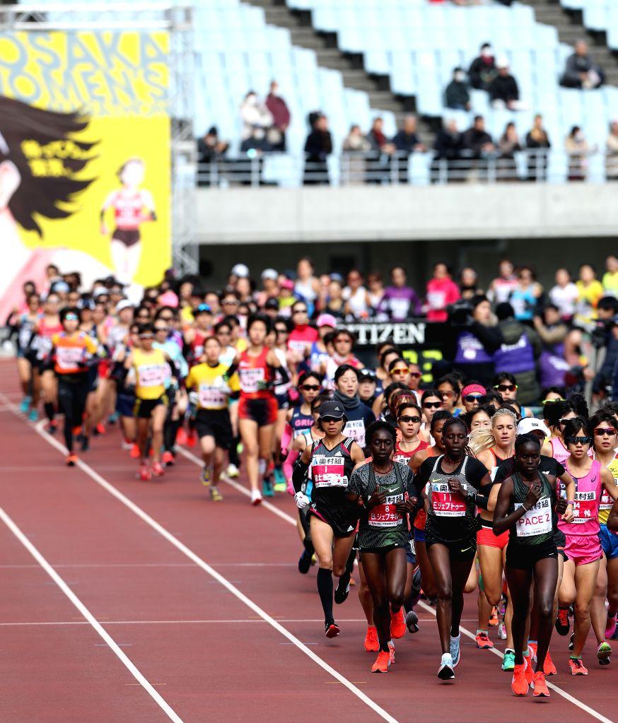 OSAKA, Jan. 27, 2019 - Athletes compete during the 2019 Osaka Women's Marathon in Osaka, Japan, on Jan. 27, 2019. Fatuma Sado of Ethiopia claimed the title with 2 hours 25 minutes 39 seconds.