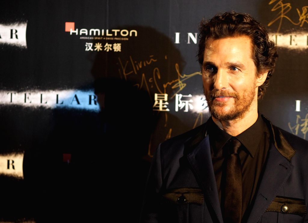Oscar winner Matthew McConaughey appeared at the Asia's premiere of the movie `Interstellar` in Shanghai Xintiandi. The film will be November 12 landed in mainland China.