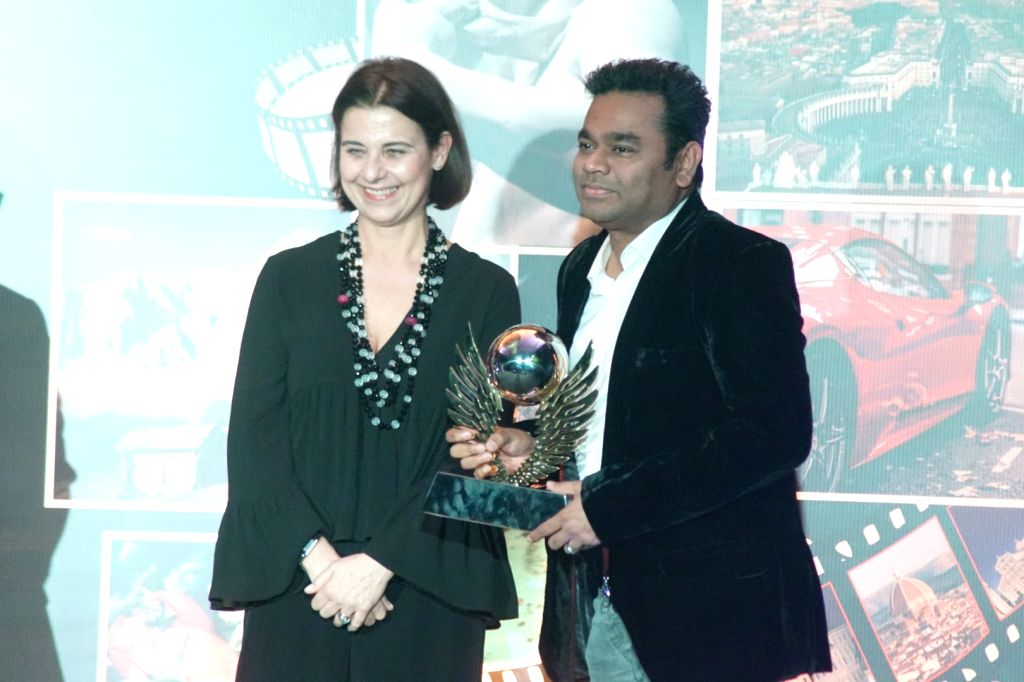 Oscar-winning composer A.R. Rahman at the red carpet of Volare Awards 2018 in Mumbai on Feb 9, 2018.