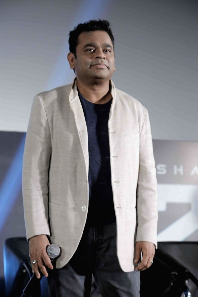 "Oscar winning composer A.R. Rahman at the trailer launch of upcoming film ""2.0"" in Chennai on Nov 3, 2018."