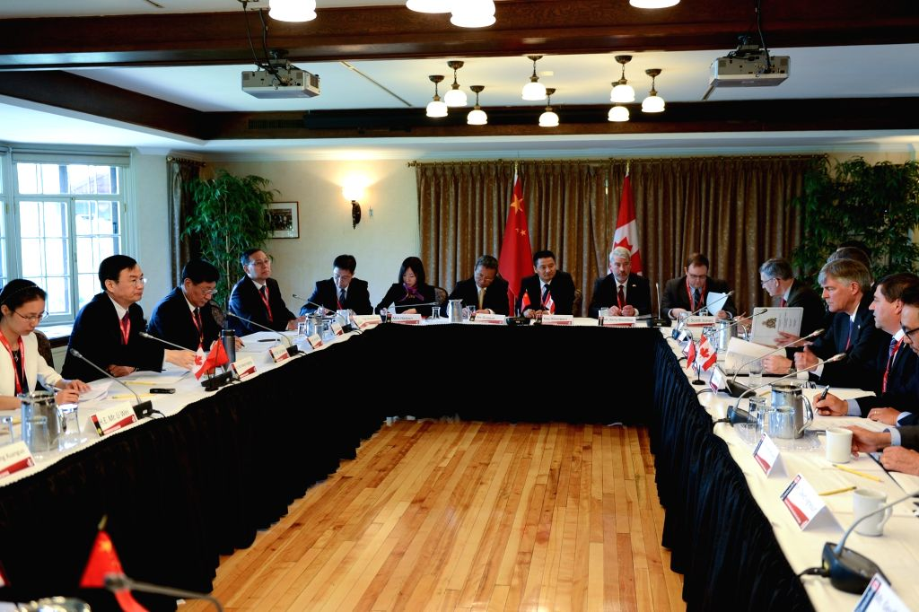 OTTAWA, June 23, 2017 - China and Canada hold the Second High-Level National Security and Rule of Law Dialogue in Ottawa, Canada, June 22, 2017. China and Canada issued a joint communique Thursday to ...