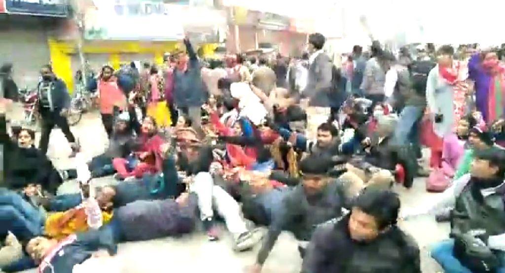 Over 100 injured in police-teacher clash in Tripura.