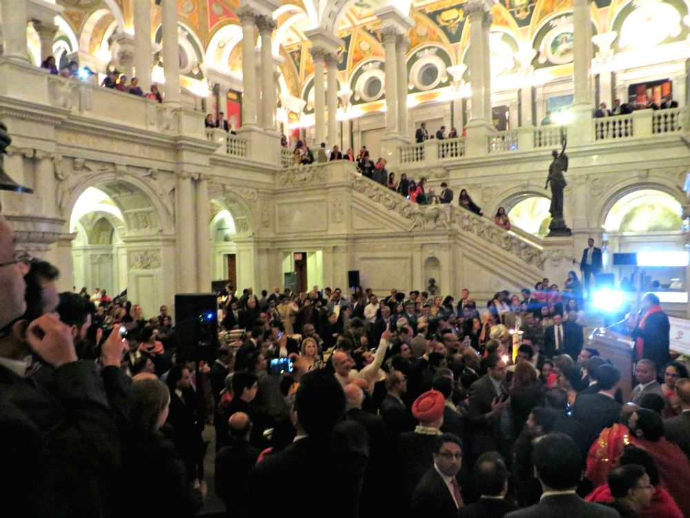 Over 1000 people attended the annual Diwali celebration in the Great Hall of the Library of Congress in the American capital