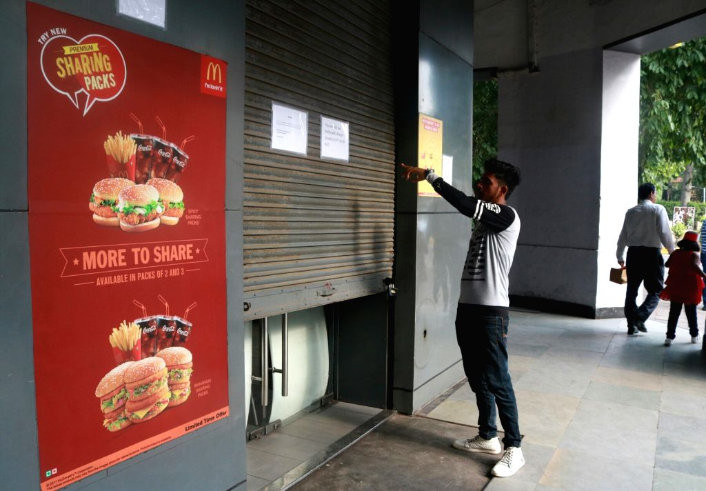 Over 40 McDonald's restaurants suspended their operations in the national capital due to expiry of Eating House Licenses; in New Delhi on June 29, 2017.