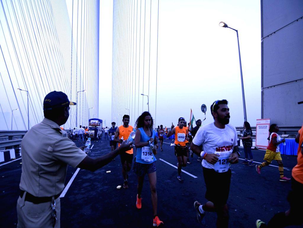 Over 55,000 runners lace-up for Tata Mumbai Marathon