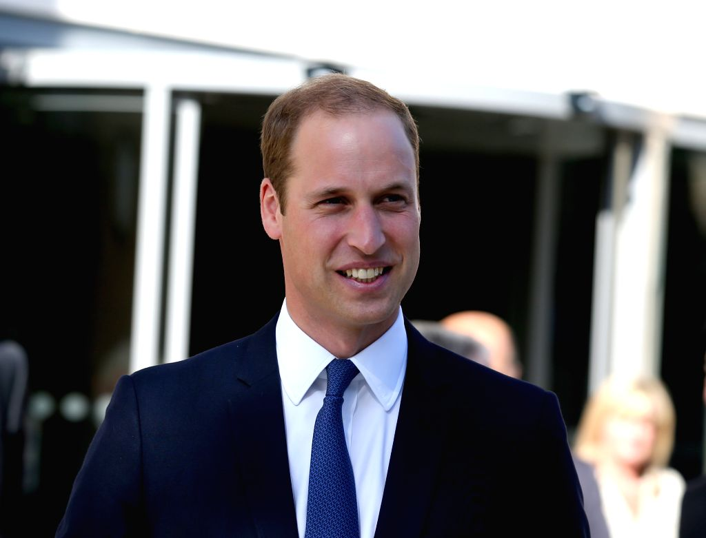 OXFORD, Sept. 8, 2014 (Xinhua) -- Prince William, Duke of Cambridge, attends a ceremony to inaugurate the Dickson Poon University of Oxford China Centre Building in Oxford, the United Kingdom, on Sept. 8, 2014. Prince William unveiled the Dickson Poo