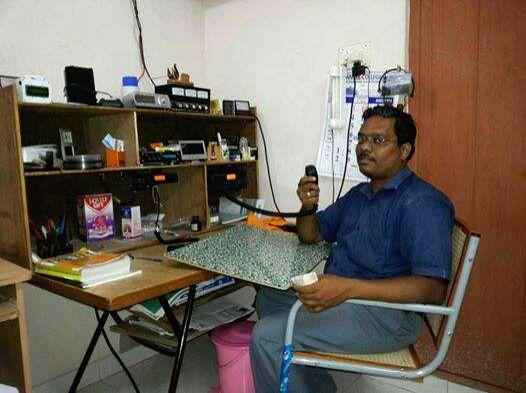 P Kalyanasundaram Ham Radio Operator, Tamil Nadu.