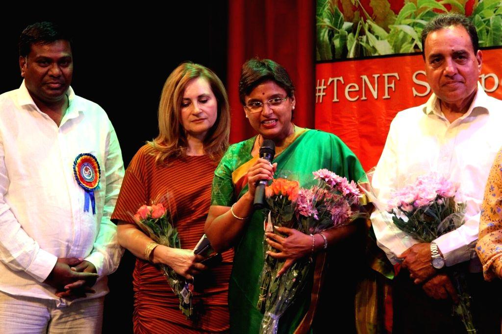 Padmavathi Reddy, wife of Telangana Congress president N. Uttam Kumar Reddy during London Bonalu Festival, in London on July 22, 2018. - Padmavathi Reddy