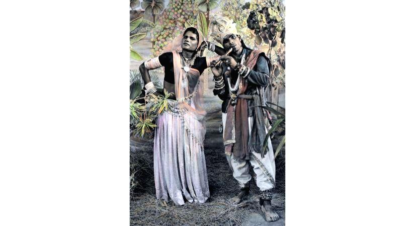 Painted photographs of Mewar's Gauri Dancers to go on view in Gurugram.(photo:IANSLIFE)