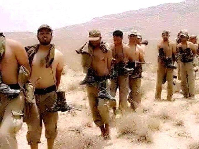 Pakistan Army soldiers surrender to TTP in Waziristan. (Credit: Twitter)