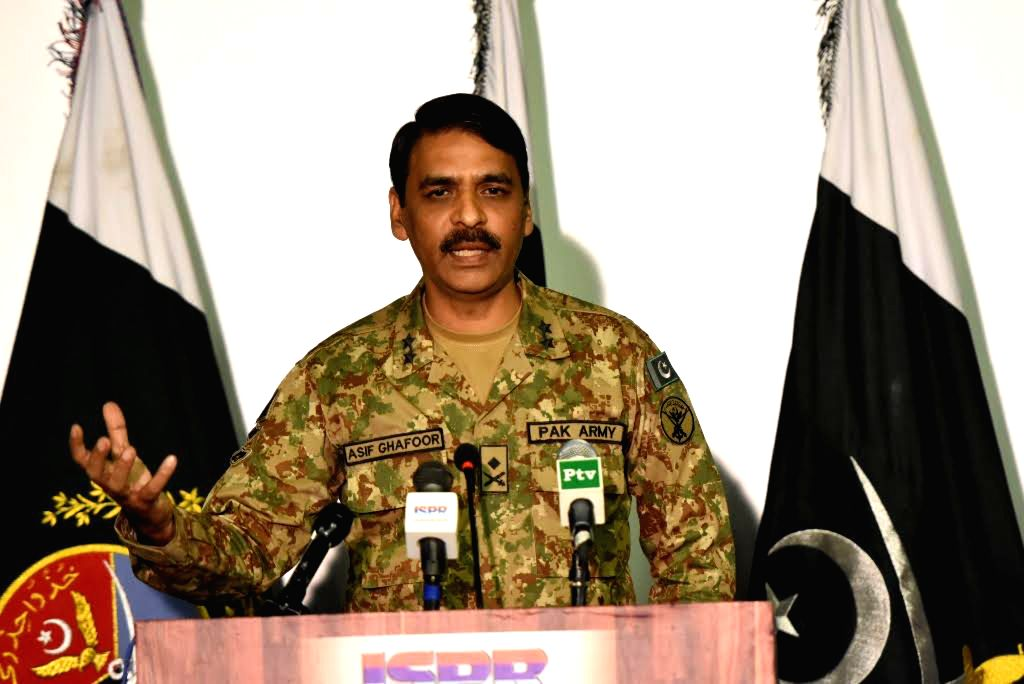 Pakistan army spokesman, Major-General Asif Ghafoor. (Xinhua/ISPR/IANS)