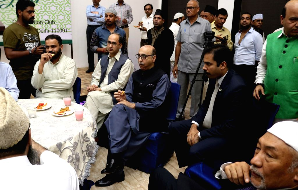 Pakistan High Commissioner Abdul Basit during an Iftaar party in New Delhi on July 04, 2016.