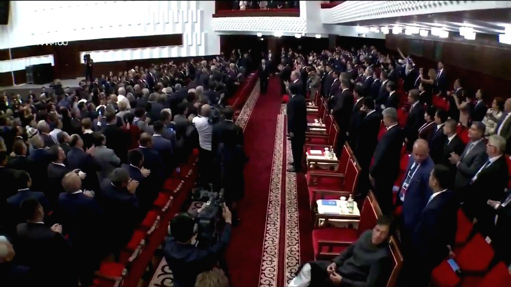 Pakistan Prime Minister Imran Khan has broken diplomatic protocol again this time at the opening ceremony of the SCO Summit he is seen sitting while everyone else stood to welcome the head ... - Imran Khan