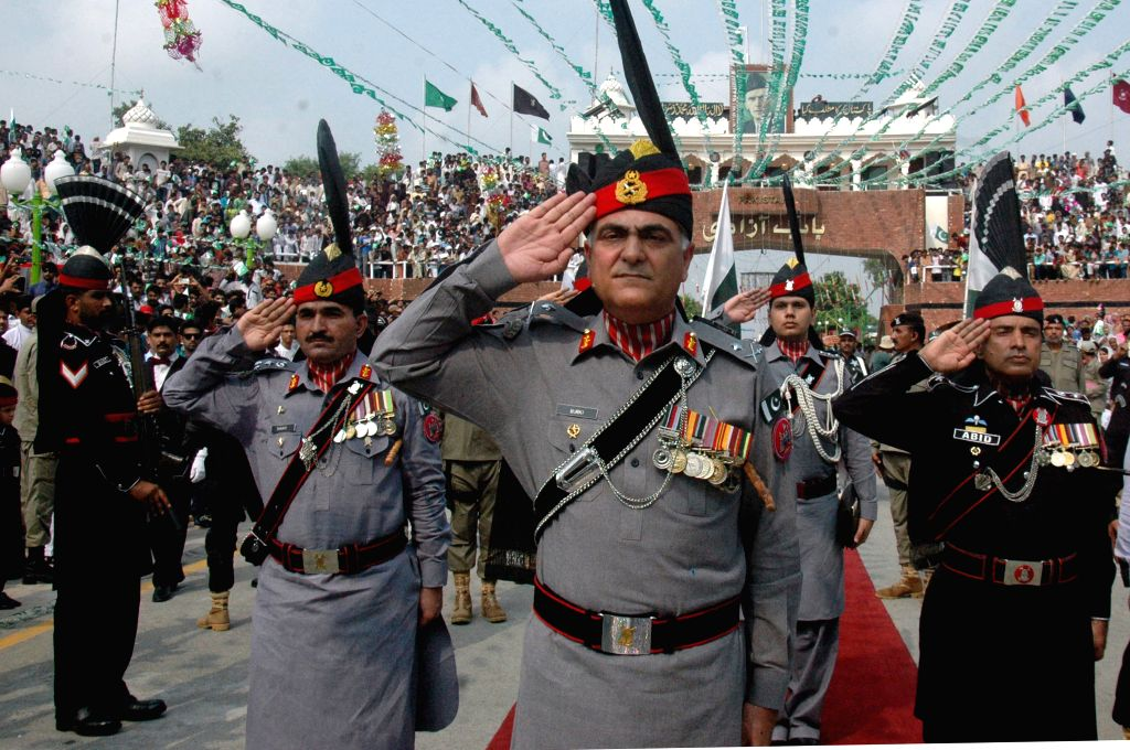 Pakistan Rangers officers celebrate the country's 68th Independence Day in Lahore, east Pakistan, Aug. 14, 2015. The independence is observed every Aug. 14, when ...