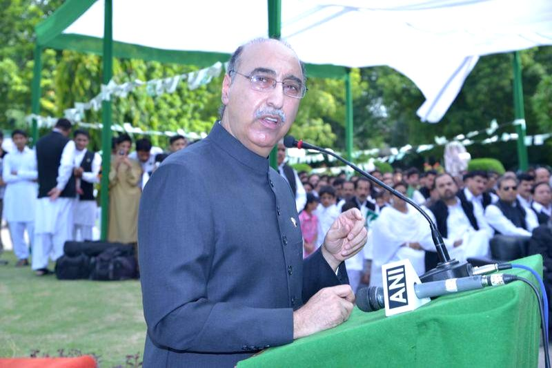 Pakistan's High Commissioner to India Abdul Basit during Pakistani Independence Day celebrations at Pakistan High Commission in New Delhi on Aug 14, 2014.