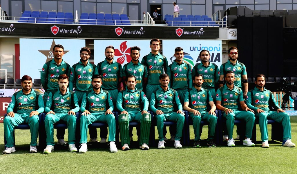 Pakistan team ahead of the second match (Group A) of Asia Cup 2018 against Hong Kong at Dubai International Cricket Stadium on Sept 16, 2018.