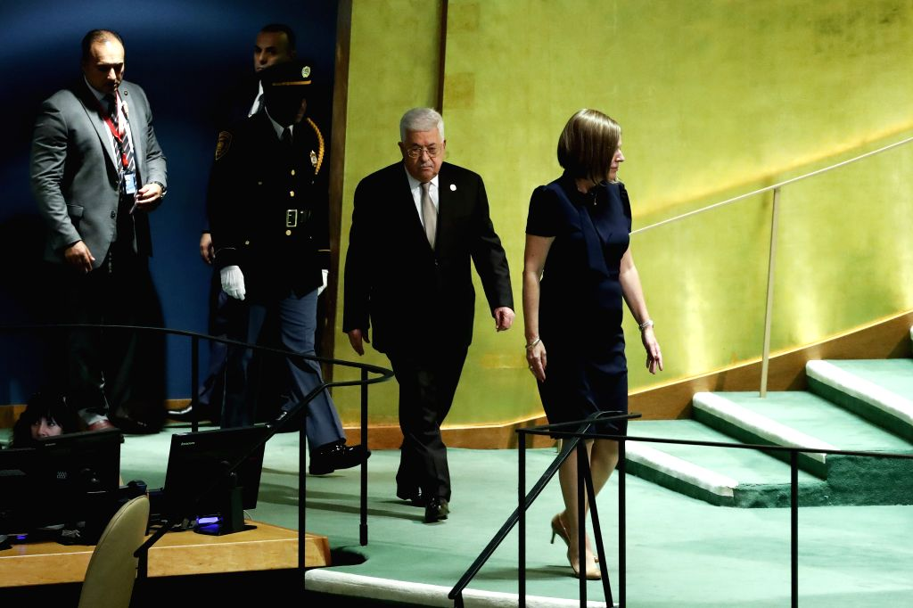 Palestinian President Mahmoud Abbas at the UN