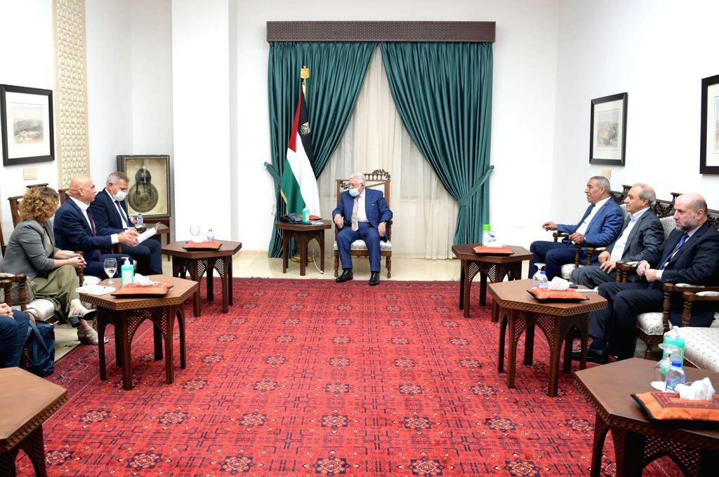 Palestinian President Mahmoud Abbas, Israeli ministers discuss peace process(pic credit: https://www.facebook.com/President.Mahmoud.Abbas)