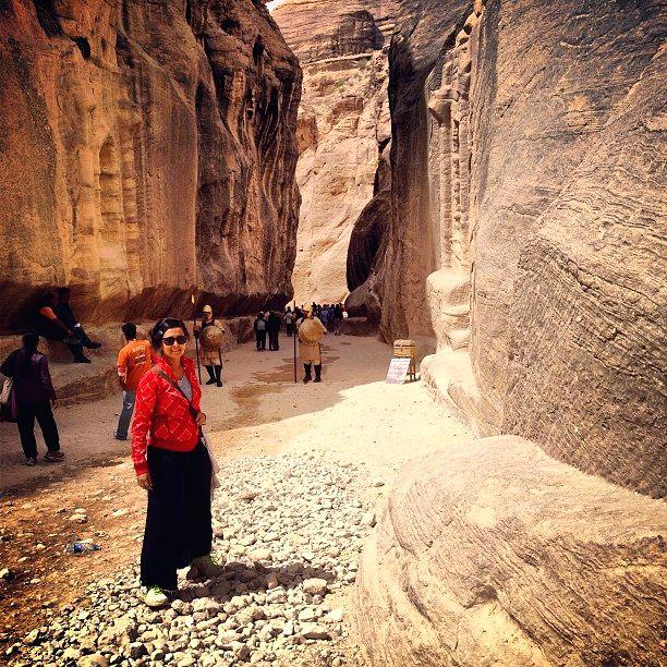 Pallavi Savant visited UNESCO World Heritage Site, Petra in Jordan under gounesco challenge.