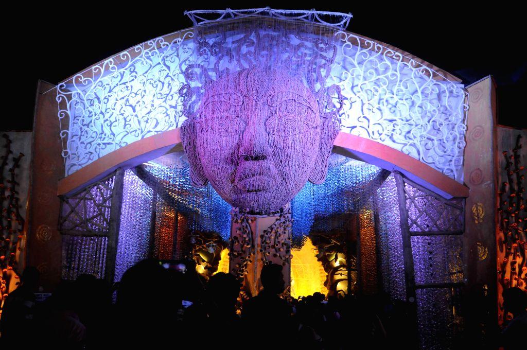 Pally Mangal Samiti Durga Puja pandal in Kolkata, on Oct 19, 2015.