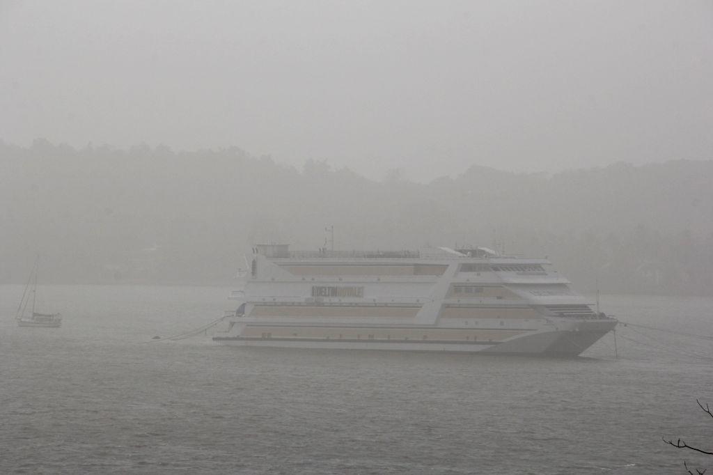 A view of haze over Mandovi river in Panaji, on April 7, 2015.