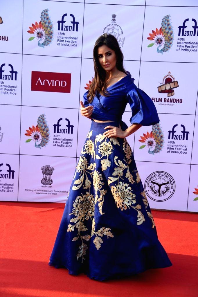 Panaji : Actress Katrina Kaif at the red carpet of closing ceremony of  48th International Film Festival of India (IFFI-2017), in Panaji, Goa on November 28, 2017. - Katrina Kaif