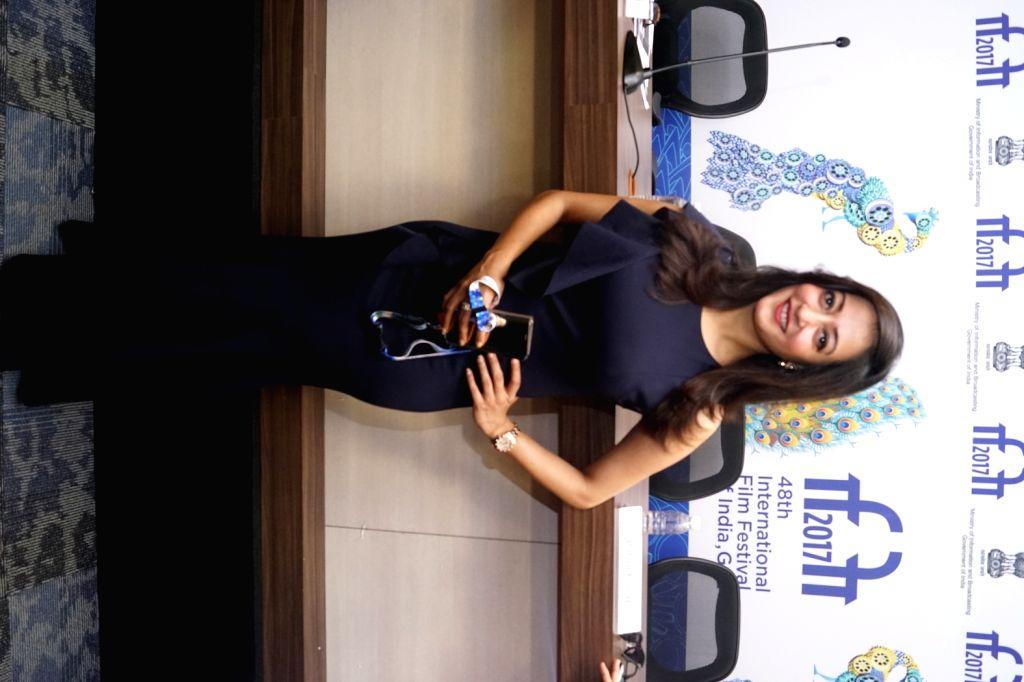 Panaji : Actress Raima Sen at a press conference during the 48th International Film Festival of India (IFFI-2017) in Panaji, Goa on Nov 28, 2017. - Raima Sen