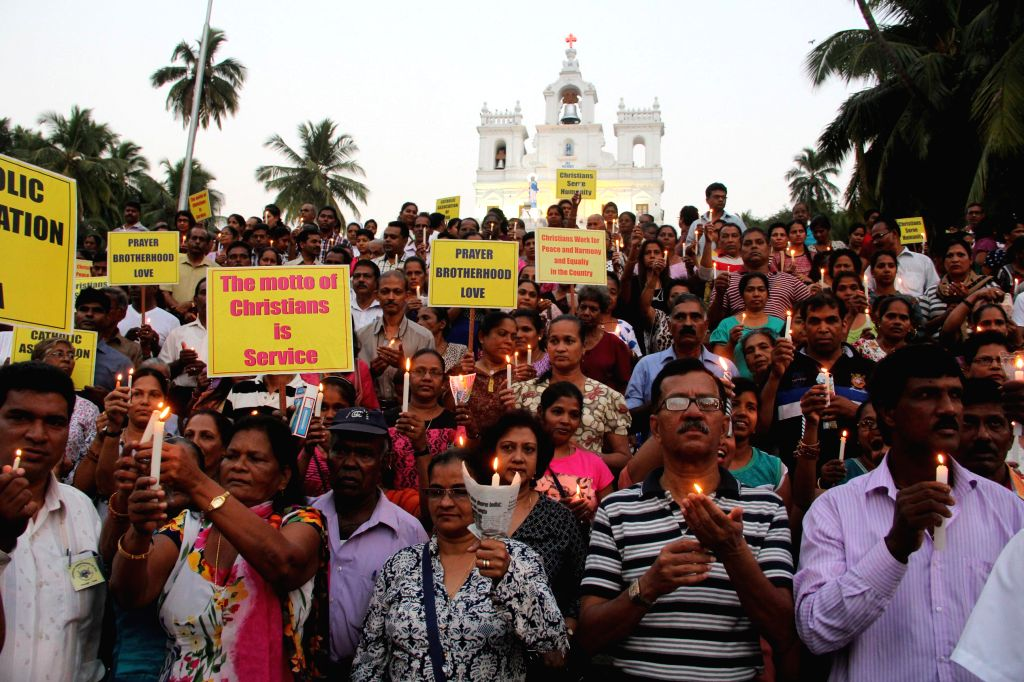Catholic community under the banner of Catholic Association Of Goa carried a candle light vigil to highlight the concern over the attacks on churches in the country in Panaji on Jan. 31, ...