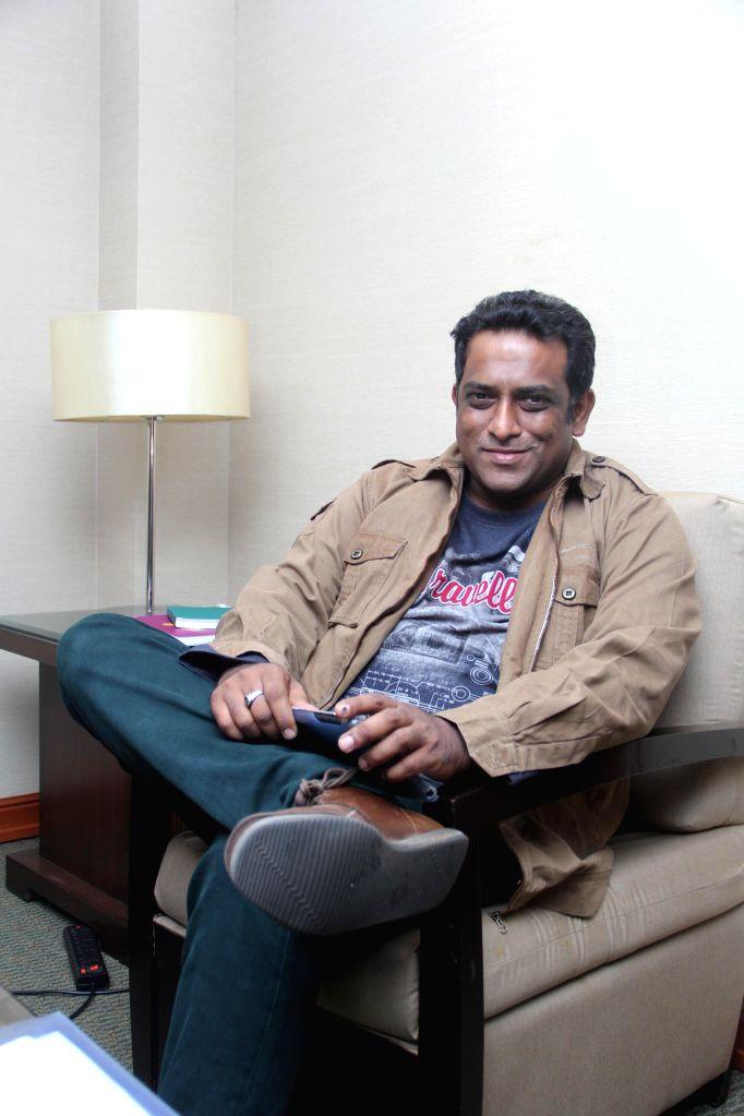 Filmmaker Anurag Basu at Film Bazar during ongoing  International Film Festival of India - 2014 in Panaji on Nov 21, 2014.
