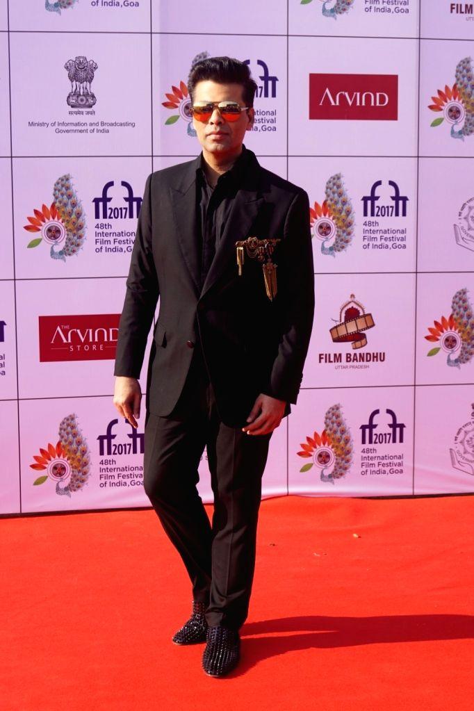 Panaji : Filmmaker Karan Johar at the red carpet of closing ceremony of  48th International Film Festival of India (IFFI-2017), in Panaji, Goa on November 28, 2017. - Karan Johar