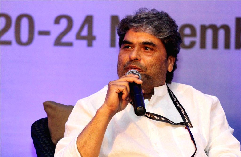 Filmmaker Vishal Bhardwaj speaks during the `Knowledge series 2014` at the 8th NFDC Film Bazaar 2014 Day 2 in Panaji, Goa on Nov 22, 2014.