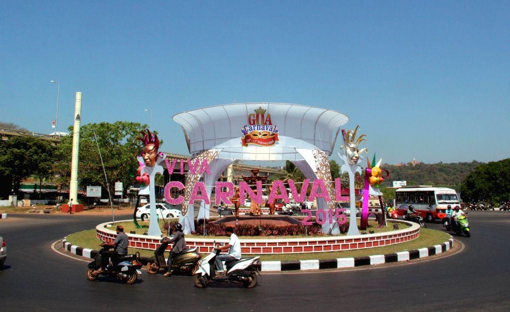 Panaji decks up for Carnival 2015  on Feb 13, 2015.